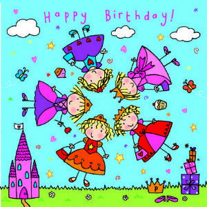 Children's Birthday Card Spinner - Princess Dress Up